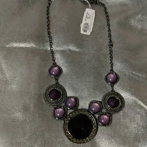 Stunning purple statement piece Necklace NWT